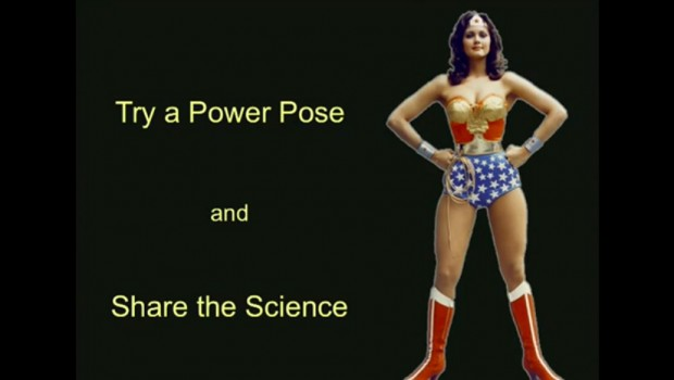 Power pose - wonderwoman