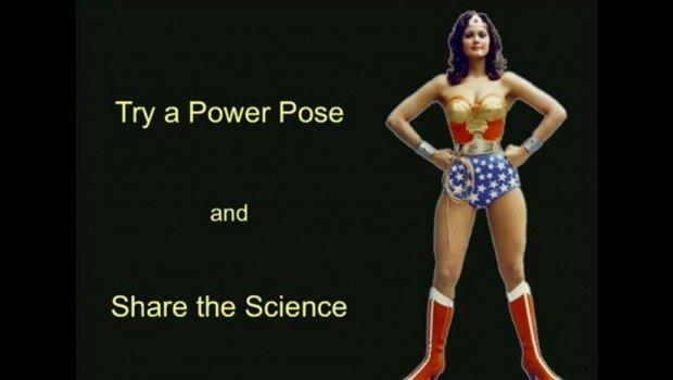 Power pose - wonderwoman